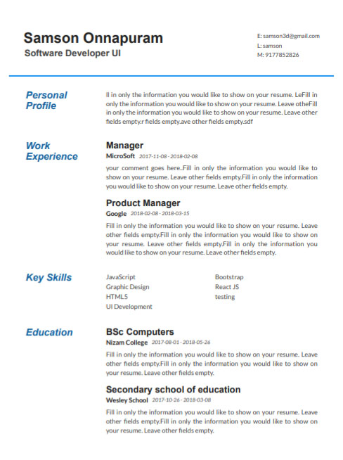 Build Resume Online In 5 Minutes With Free Builder