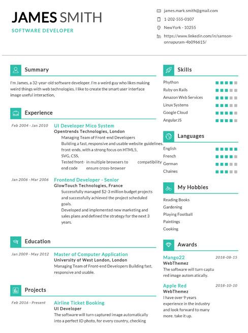 best online resume builder free